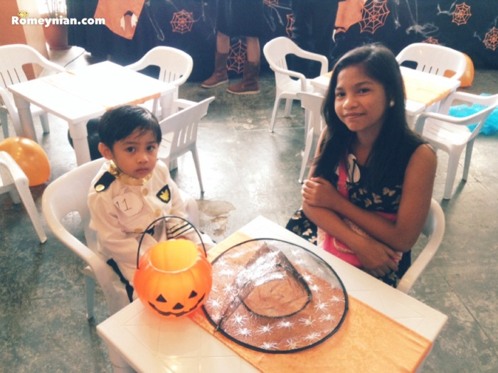 Gab and Marj patiently waiting for the party to begin.