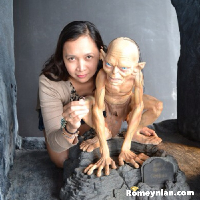 I have the ring! Btw, you are not allowed to touch gollum's hair.