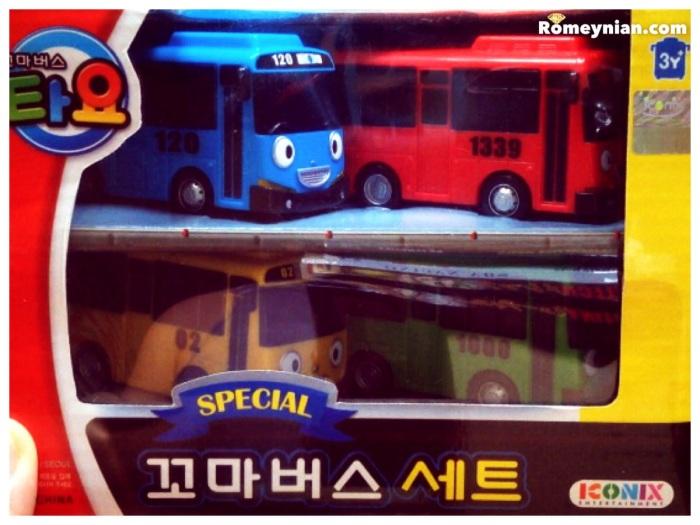 Tayo 4pcs Special Car Set Packaging