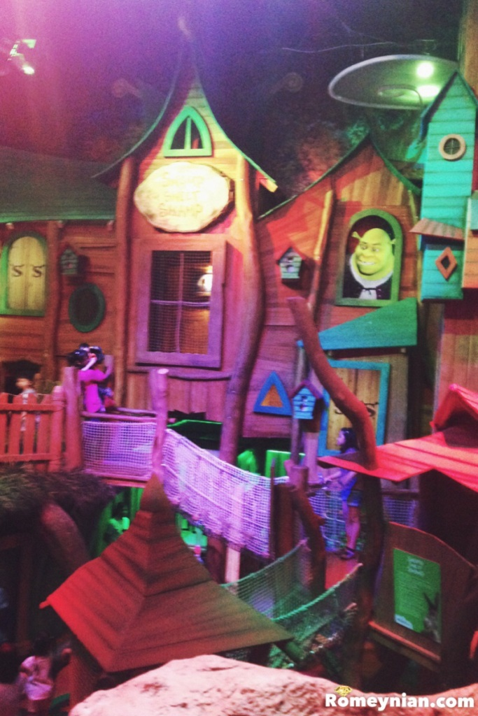 The huge home of Shrek and Princess Fiona