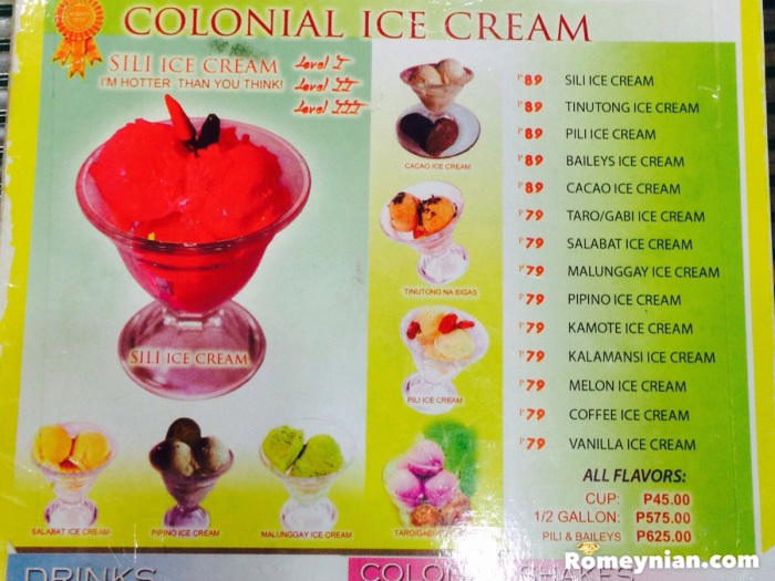 You can choose the level of your Sili Ice Cream.